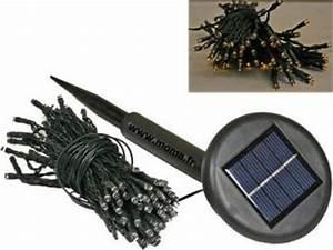 Guirlande Lumineuse Solaire Exterieur : guirlande lumineuse solaire 6m 40 led destockage grossiste ~ Dailycaller-alerts.com Idées de Décoration
