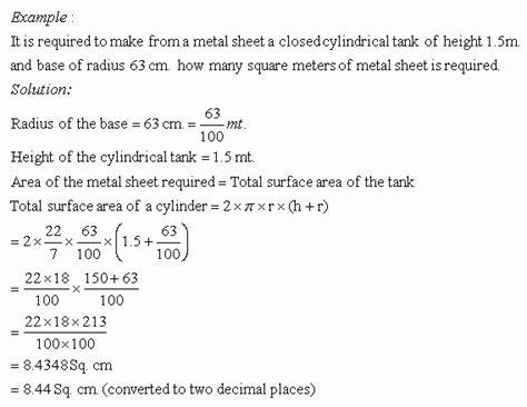 word problems on cylinder i high school mathematics