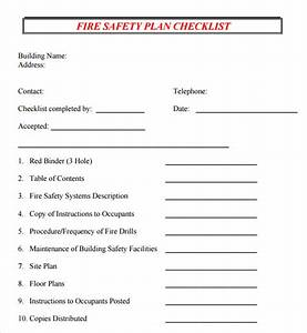 safety plan template 7 documents in pdf With fire safety checklist template