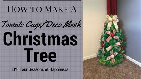 how to make a deco mesh christmas tree with tomato cage