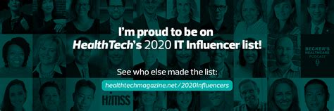 2020 Health IT Influencer List Badges   HealthTech Magazine