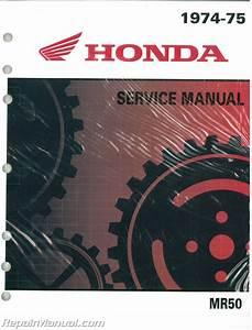 Honda Mr50 Motorcycle Service Manual And Parts Manual 1974