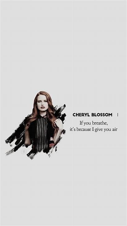 Cheryl Blossom Riverdale Quotes Wallpapers Lockscreen Petsch