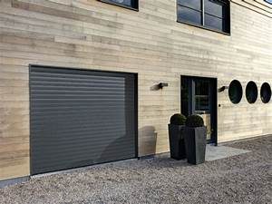porte de garage enroulable motorisee en aluminium iso02com With porte de garage enroulable et porte interieur isolation thermique