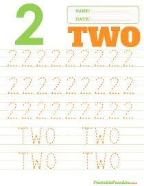 printable dotted number tracing worksheets