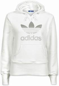 Adidas Hoodie Weiß. adidas trefoil w hoodie wei silber im