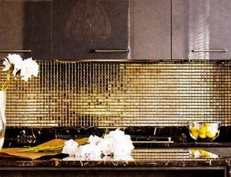 gold backsplash gold backsplash for kitchen pictures to pin on pinterest pinsdaddy