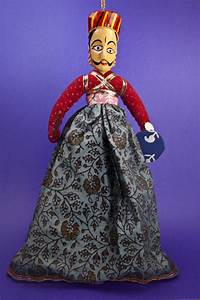 India Kshatriya Warrior Puppet with Hand-Painted Head ...