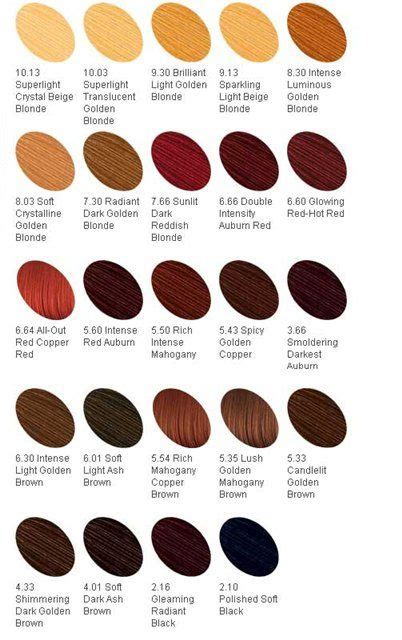 hair color names  characters writing characters