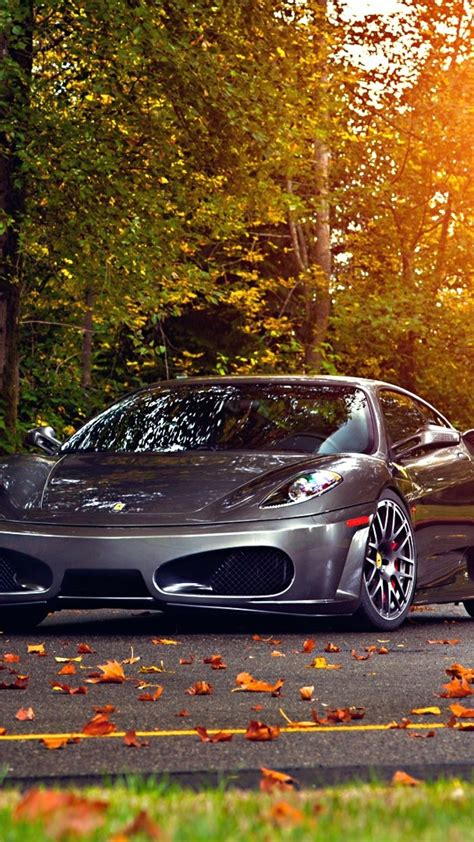 wallpaper ferrari  scuderia  cars autumn road