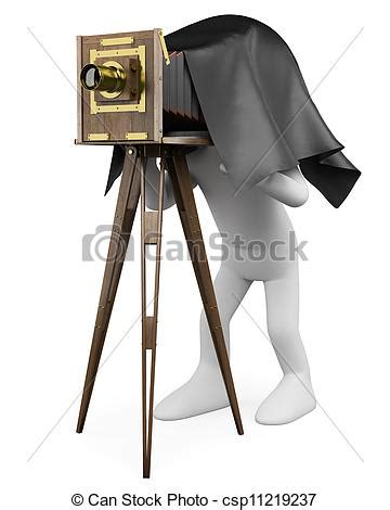 14347 photographer clipart vintage 3d white photographer with royalty free