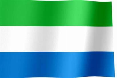 Sierra Leone Flag Waving Flags National West