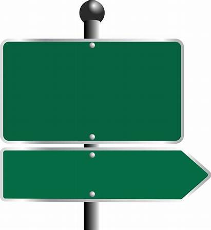 Signs Road Sign Street Clipart Blank Transparent