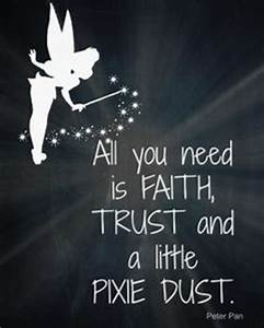fairy princess vinyl wall decal all you need is faith With good look faith trust and pixie dust wall decal