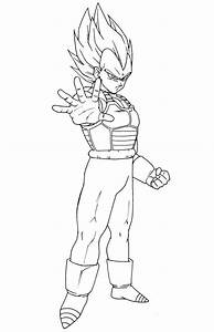 Goku Coloring Page - Coloring Home