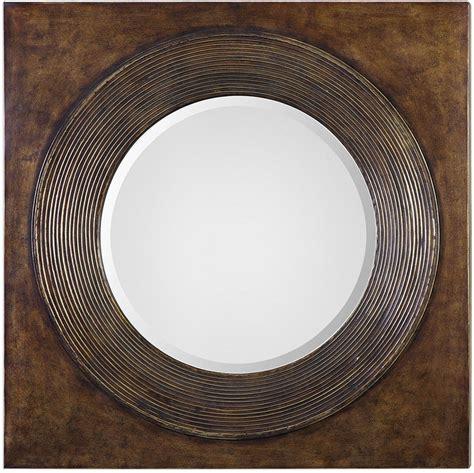 Uttermost Oralist Mirror by Uttermost 09163 Eason Golden Bronze Wall Mirror