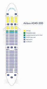 A340 500 Seating Chart Airbus A340 500 Azerbaijan Airlines