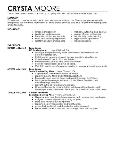 Server Skills For Resume by Best Server Resume Exle From Professional Resume