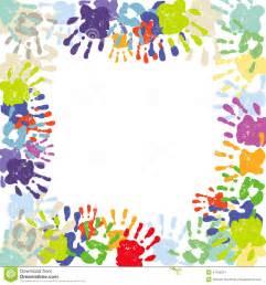 Colorful Handprint Border Printable