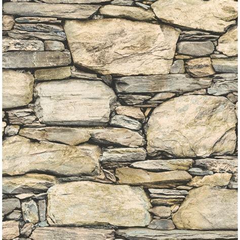 distinctive slate stone wall wallpaper natural beige