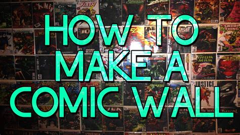Comic Wall Decor by How To Make A Comicbook Wall Easy Cheap