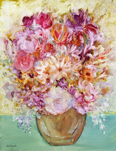 floral i painting by jim carpenter