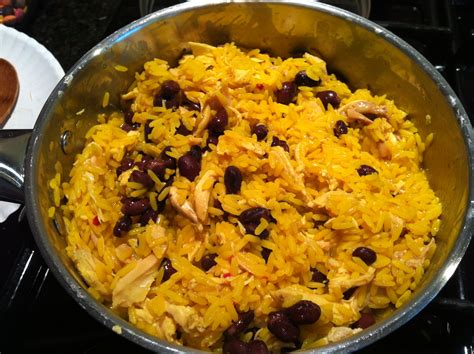 yellow rice and beans yellow rice chicken black beans