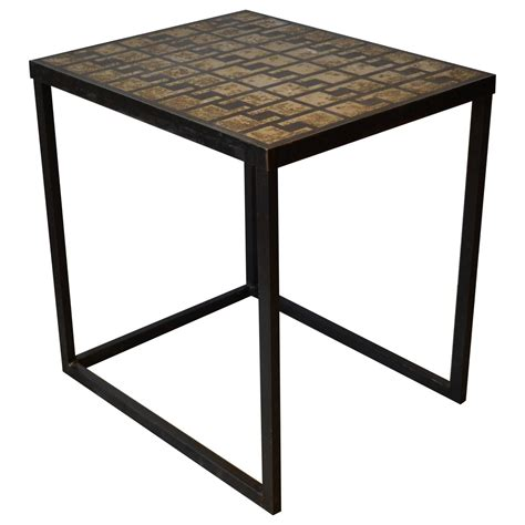concrete top end table industrial iron and concrete top side table for sale at