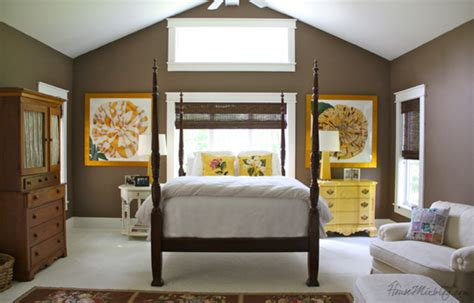 Brown And Yellow Master Bedroom