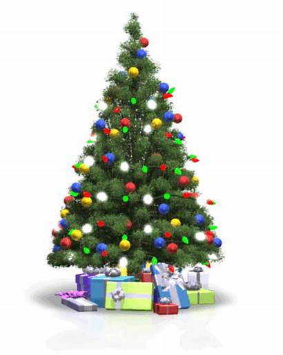 Tree Christmas Lights Flickering Trees Animation Powerpoint