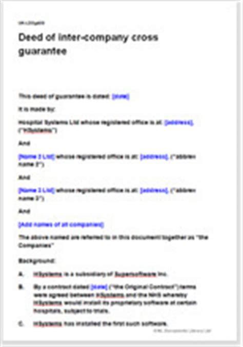 intercompany cross guarantee agreement template