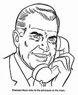 Coloring Nixon Richard Printable Presidents President Sheets Space Printables Clipart Clip Descendants Patriotic Lonnie Usa Printing States United Library Template sketch template