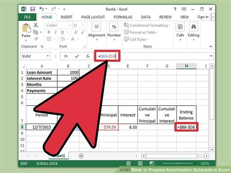 how to prepare amortization schedule in excel 10 steps - Amortization Table Excel