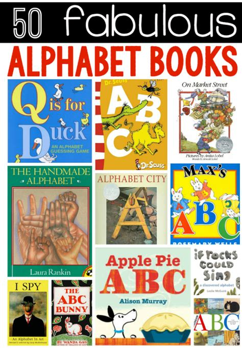 the 50 best abc books for the measured 840 | 50 fabulous alphabet books 590x849