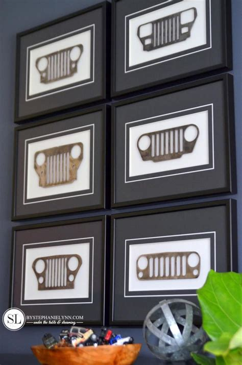 jeep grill art framed jeep grilles boys art and if