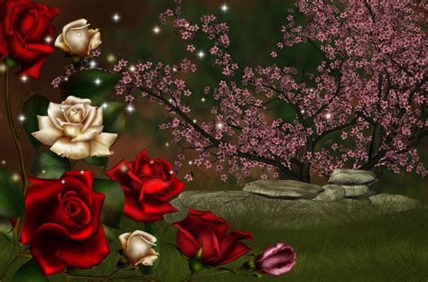 rose fantasy hd wallpaper background image