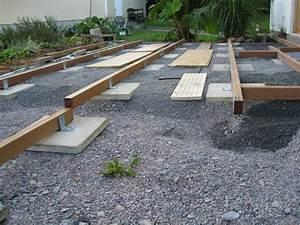 Bau Einer Holzterrasse : balken f r terrassen unterkonstruktion terrassenholz unterkonstruktion bangkirai 45x70mm eine ~ Sanjose-hotels-ca.com Haus und Dekorationen