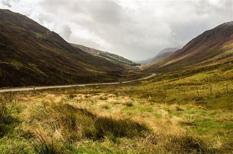 photo scotland grass landscape valley