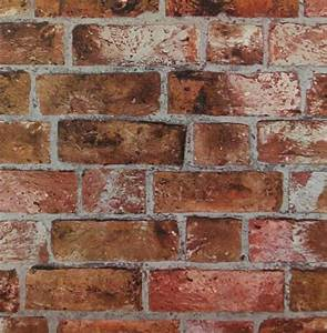Faux en détresse rouge Orange brique et mortier mur Toscane