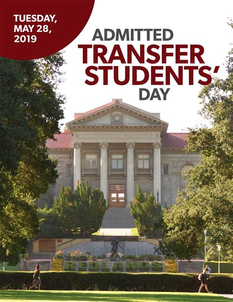 University of Redlands Admitted Transfer Students Day