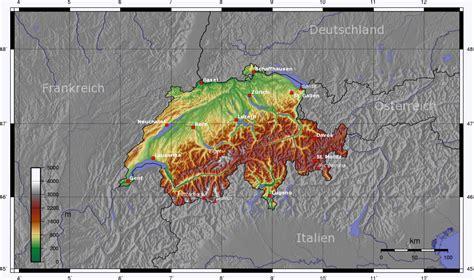 landkarte schweiz topographie weltkartecom karten