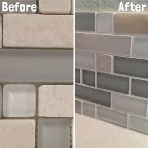 Diy kitchen backsplash part 5 grouting backsplash tiles for Grout for backsplash tiles
