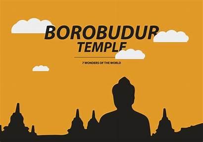 Vector Temple Borobudur Map Vecteezy Wonders Downloads