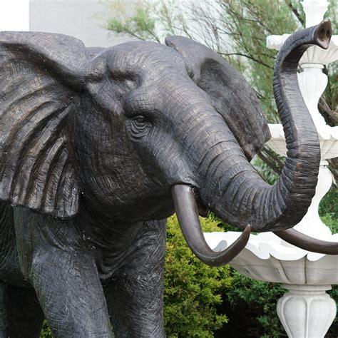 Extra Large Bronze Elephant Statue Life Size - IronGate ...