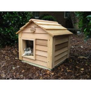 cat house 20 inch cedar cat house