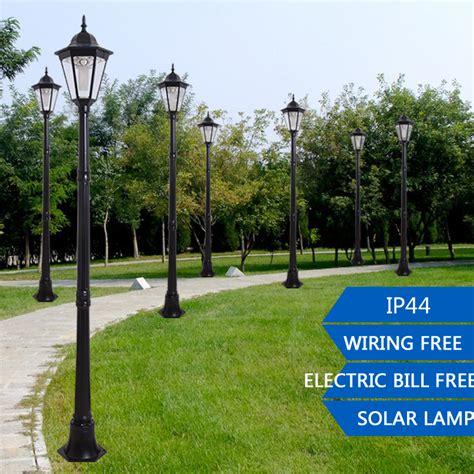 1 9m outdoor led solar garden post light waterproof pillar