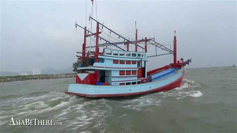 Thai Boat by Fishing Boat In Pranburi Thailand Hua Hin Sea Discovery