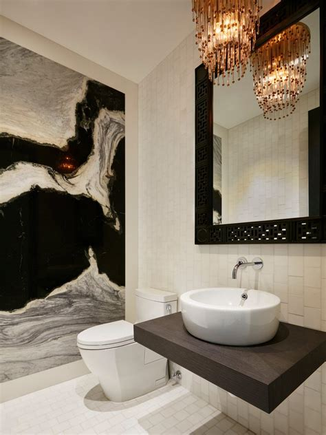 miami bathroom accent wall ideas powder room contemporary