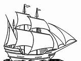 Coloring Boat Ship Sailing Sail Printable Ships Ferry Adults Template sketch template