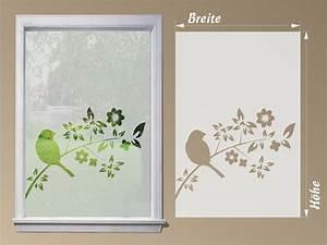 Sichtschutzfolien Für Fenster : sichtschutzfolie fensterfolie vogel auf ast ~ Watch28wear.com Haus und Dekorationen